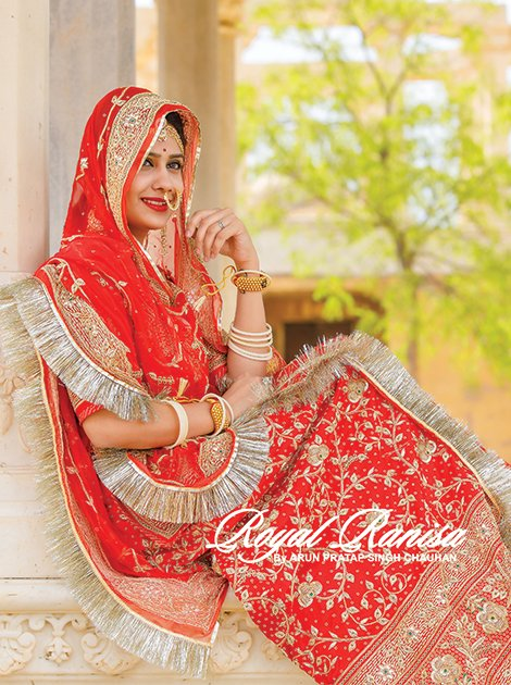 GRACEFUL RED BRIDAL POSHAK