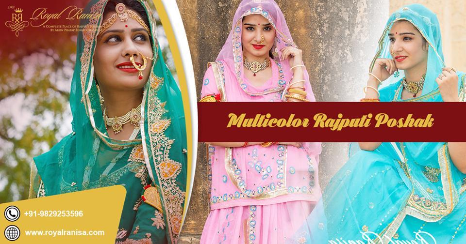 Multi-Color Rajputi Poshak