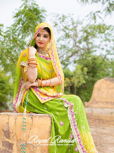 This beautiful royal dress which is a bridal rajputi poshak adds beauty to you and your dressing